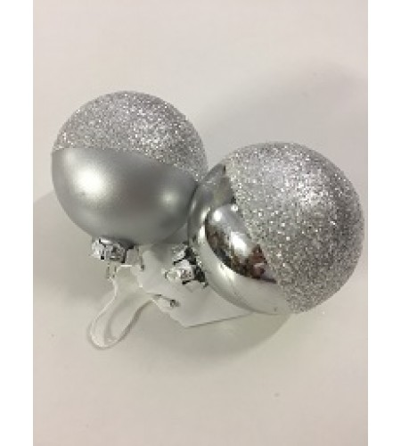 FROSTED SILVER BAUBLE