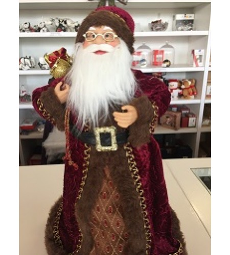 BURGUNDY/ BROWN SANTA