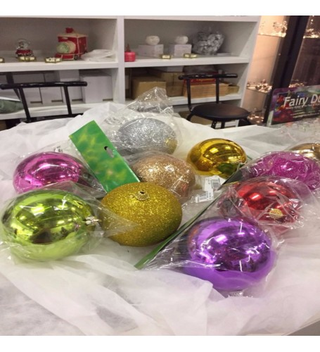 100 mm Assorted Baubles singles