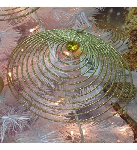 Glitter swirls gold & green